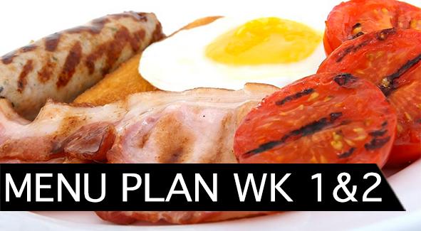 Menu Plan and Recipes Week 1 and 2